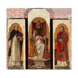 Three Saints Giclée-Druck von Bartolomeo Vivarini