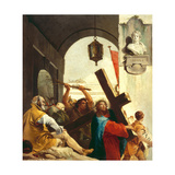 Christ Carrying the Cross, Stations of the Cross, 1747 Giclee Print by Giandomenico Tiepolo