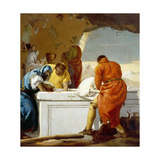 The Entombment, Stations of the Cross, 1747 Giclée-tryk af Giandomenico Tiepolo