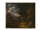 Landscape with Wood Giclee Print by Gaspard Poussin Dughet