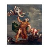 Abraham Sacrificing Isaac Giclée-tryk af Titian (Tiziano Vecelli)