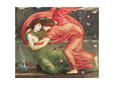 Cupid Delivering Psyche, 1867 Giclee Print by Sir Edward Coley Burne-Jones