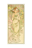 The Flowers: Rose, 1898 Giclee Print by Alphonse Marie Mucha