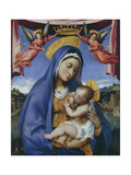Madonna and Child Crowned by Angels, 1525-29 Giclee Print by Lorenzo Lotto
