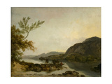 A River Scene with a Ferry, c.1786 Giclee Print by Philip James De Loutherbourg