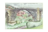 Ironbridge, Shropshire, c.1960 Giclee Print by John Nash