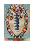 Untitled (African Shield Mask), 1960 Giclee Print by Eileen Agar