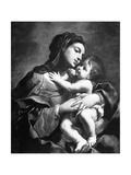 Madonna med barnet Giclée-tryk af Elisabetta Sirani