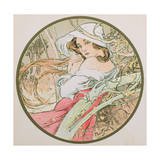 November, 1899 (Detail) Giclee Print by Alphonse Marie Mucha