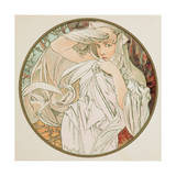 March, 1899 (Detail) Giclee Print by Alphonse Marie Mucha