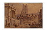 High Street, Bath Giclee Print by David Cox