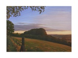 Last Light on the Wessex Ridgeway 1, 2010 Giclee Print by Peter Breeden
