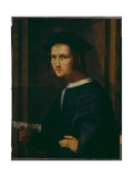 Portrait of a Young Man with a Letter Giclée-tryk af Francesco Di Cristofano Franciabigio