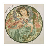 December, 1899 (Detail) Giclee Print by Alphonse Mucha