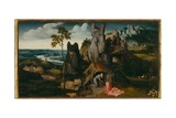 Landscape with St Jerome Giclee Print by Joachim Patenir