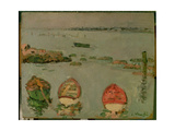 Boats, Lower Largo, Fife Giclee Print by George Leslie Hunter