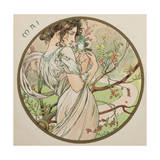 May, 1899 (Detail) Giclee Print by Alphonse Marie Mucha
