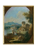 Landscape with Peasants, c.1784 Giclee Print by Giuseppe Zais