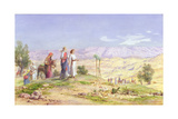 The Holy Family Approaching Jerusalem from Nazareth, 1878 Giclee Print by John Rogers Herbert