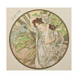 June, 1899 (Detail) Giclee Print by Alphonse Mucha