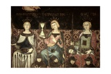 Allegory of Good Government, Detail of Justice, Hope and Magnanamity, 1338-40 Giclee Print by Ambrogio Lorenzetti