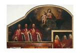 The Virgin and Child and Portraits of Three Council Advisors for the Venetian Republic Giclee Print by Nicholas Renieri