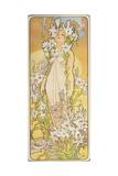 The Flowers: Lily, 1898 Gicléetryck av Alphonse Mucha