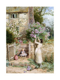 The Lilac Cottage Giclee Print by Myles Birket Foster