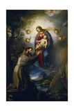Appearance of the Virgin to St. Francis Giclee Print by Jacopo Ligozzi