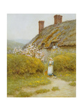 A Dorsetshire Cottage Giclee Print by Helen Allingham