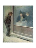 Reflections of a Starving Man or Social Contrasts, 1894 Giclee Print by Emilio Longoni
