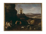 Landscape with Satyrs and Nymphs Giclee Print by Cornelis van Poelenburgh