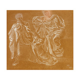 Study of Figures, 1865 Giclee Print by Sir Edward Coley Burne-Jones