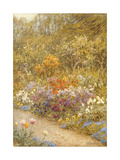 In the Kitchen Garden, Farringford Giclee Print by Helen Allingham
