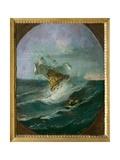 Stormy Sea, 1732 Giclee Print by Giuseppe Zais
