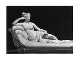Pauline Bonaparte, Princess Borghese as Venus Triumphant, c.1805-08 Giclée-tryk af Antonio Canova