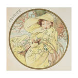 February, 1899 (Detail) Giclee Print by Alphonse Mucha
