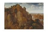 Mountainous Landscape, 1582 Giclee Print by Lucas van Valckenborch