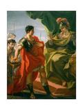 Gaius Mucius Scaevola before Porsena, c.1721-22 Giclee Print by Giovanni Antonio Pellegrini