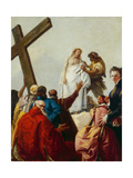 Jesus Is Stripped of His Garments and Given Gall to Drink, Stations of the Cross, 1747 Giclée-tryk af Giandomenico Tiepolo
