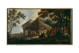 The Arrival of Cavaliers at a Farmstead Giclee Print by Peeter Snayers