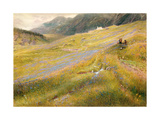 The Alpine Summer, 1874 Giclee Print by Albert Goodwin