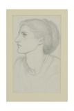 Woman's Head, 1865-70 Giclee Print by Dante Gabriel Rossetti