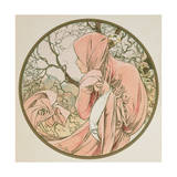 January, 1899 (Detail) Giclee Print by Alphonse Mucha