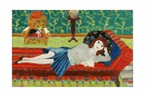 Girl on a Day Bed Giclee Print by Fred Yates