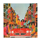 A Carnaby Scene, from 'Carnaby Street' by Tom Salter, 1970 Giclee Print by Malcolm English