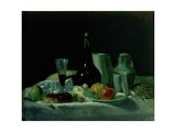 Still Life - Bottle and Fruit Giclee Print by George Leslie Hunter