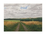 The Imber Range Path, Salisbury Plain, 2008 Giclee Print by Peter Breeden