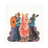 Street Musicians, from 'Carnaby Street' by Tom Salter, 1970 Giclee Print by Malcolm English
