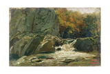 The Waterfall, 1870-75 Giclee Print by Charles Francois Daubigny